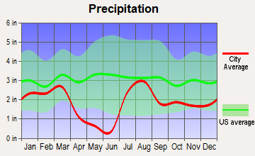 Payson, Arizona average precipitation