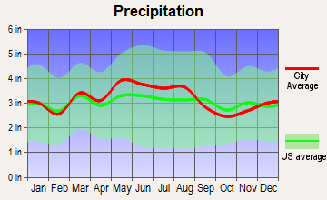 Tygarts, Kentucky average precipitation
