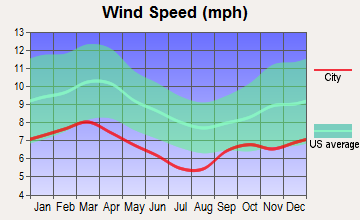 Cottonwood, Alabama wind speed