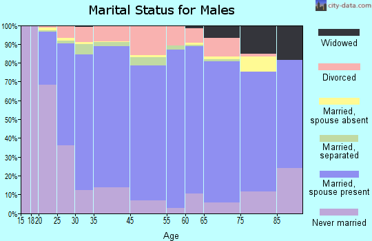 Zip code 00660 marital status for males