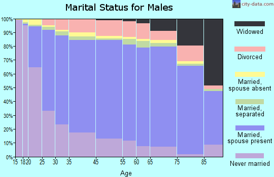 Zip code 00662 marital status for males