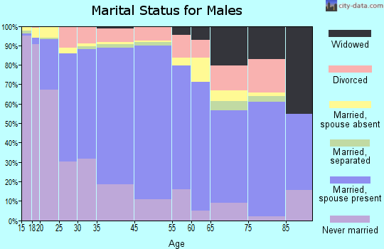 Zip code 00664 marital status for males