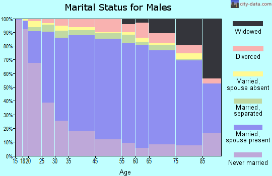 Zip code 00698 marital status for males