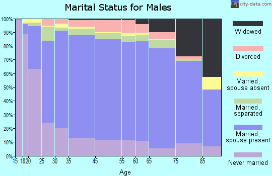 Zip code 00794 marital status for males