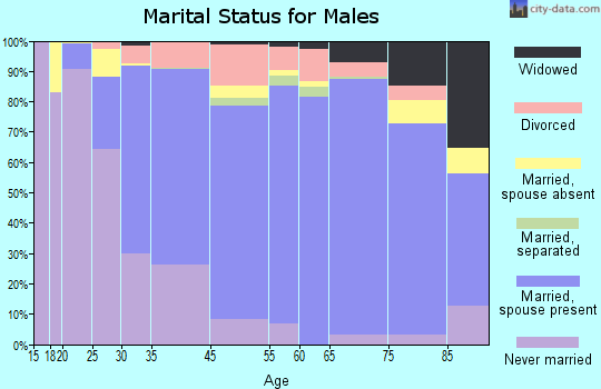 Zip code 00966 marital status for males