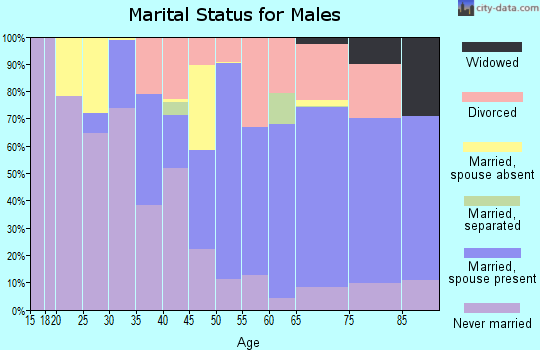 Zip code 01230 marital status for males