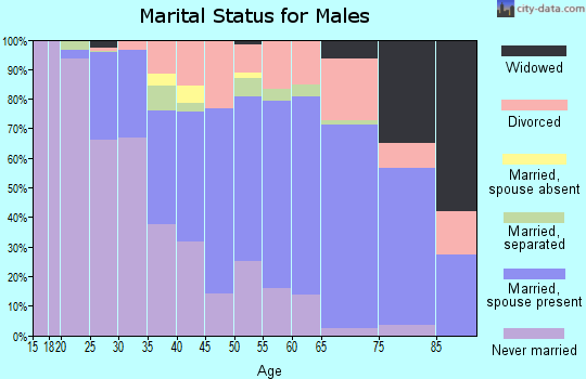 Zip code 01247 marital status for males