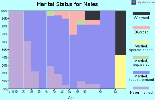 Zip code 01860 marital status for males
