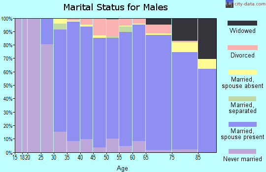Zip code 01890 marital status for males