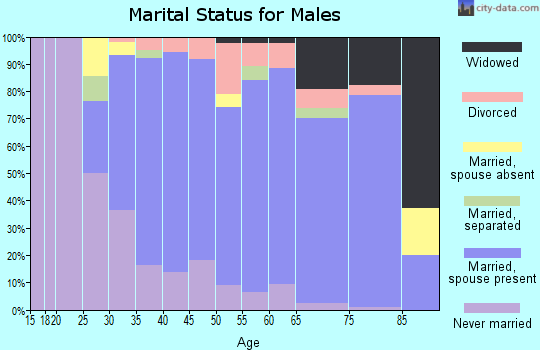 Zip code 02019 marital status for males