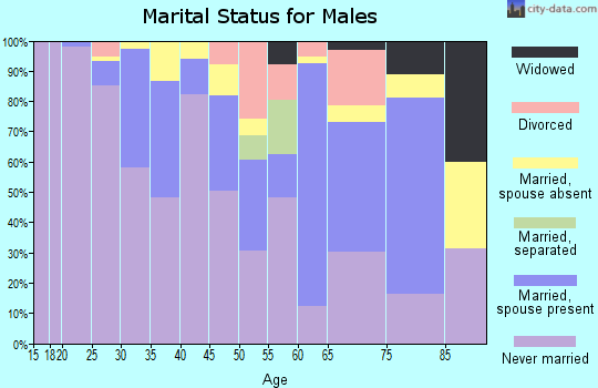 Zip code 02120 marital status for males