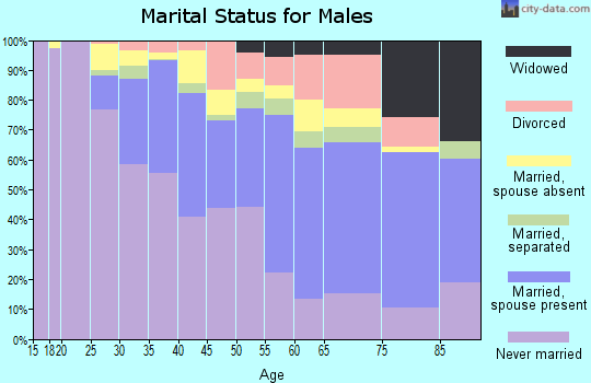 Zip code 02124 marital status for males