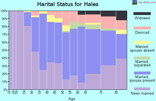 Zip code 02129 marital status for males