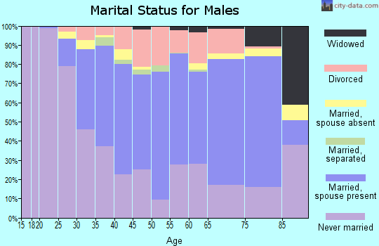 Zip code 02138 marital status for males