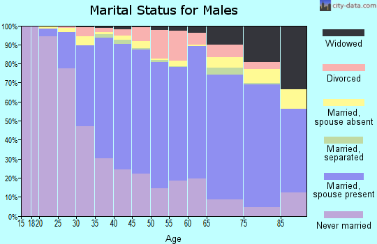 Zip code 02155 marital status for males