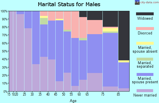 Zip code 02188 marital status for males