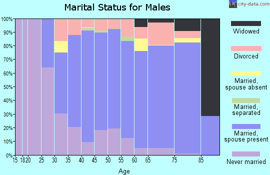 Zip code 02351 marital status for males