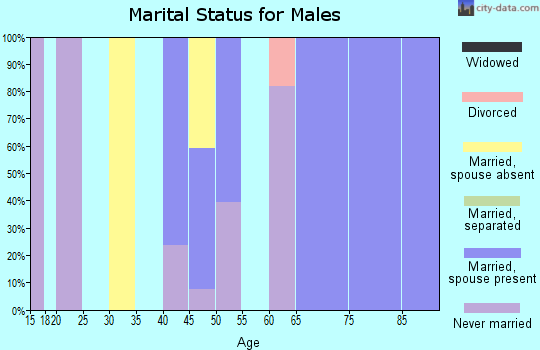 Zip code 02543 marital status for males