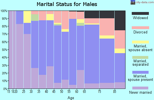 Zip code 02842 marital status for males