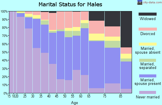 Zip code 02860 marital status for males
