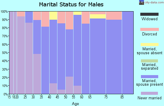 Zip code 02874 marital status for males