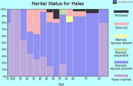 Zip code 03444 marital status for males