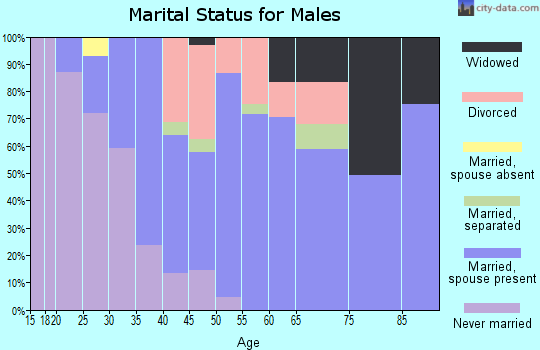 Zip code 03835 marital status for males