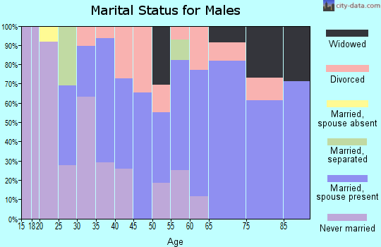 Zip code 04680 marital status for males
