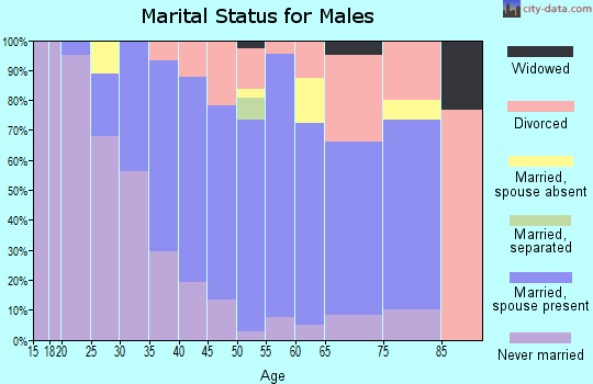 Zip code 05667 marital status for males