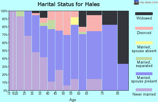 Zip code 05743 marital status for males