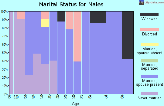 Zip code 05826 marital status for males