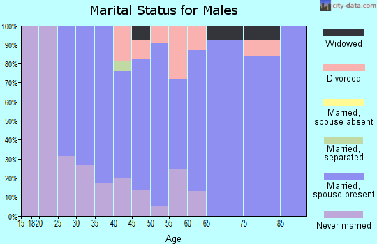 Zip code 06026 marital status for males