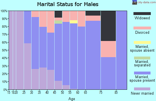 Zip code 06043 marital status for males