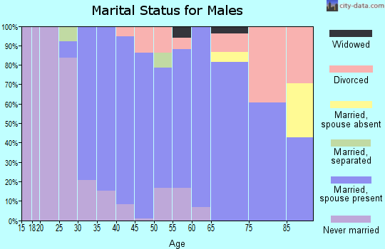 Zip code 06057 marital status for males