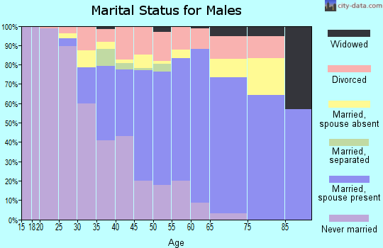 Zip code 06071 marital status for males