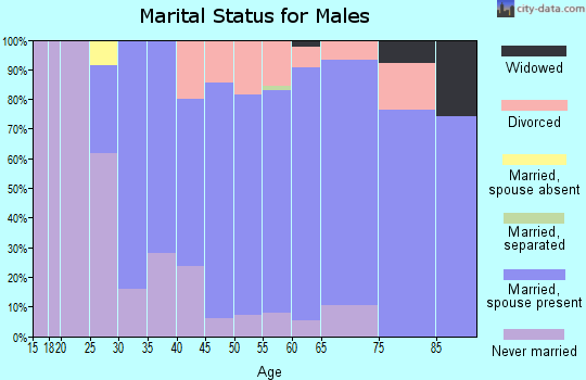 Zip code 06238 marital status for males