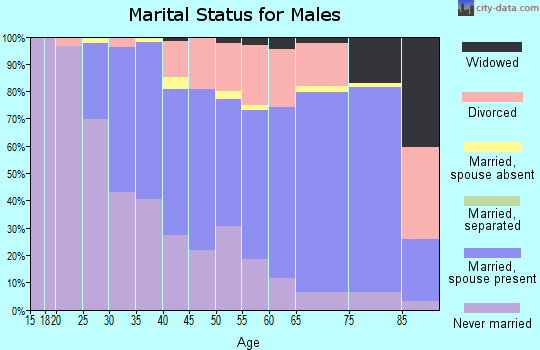 Zip code 06401 marital status for males