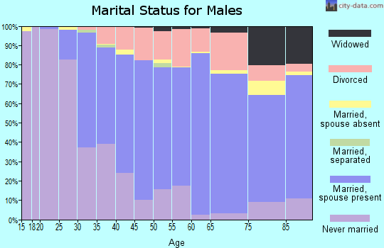 Zip code 06405 marital status for males