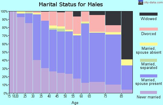 Zip code 06457 marital status for males