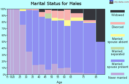 Zip code 06473 marital status for males