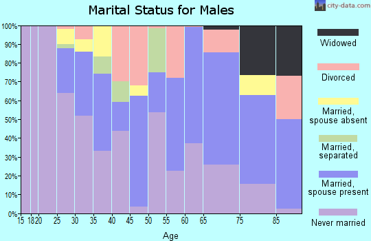 Zip code 06710 marital status for males