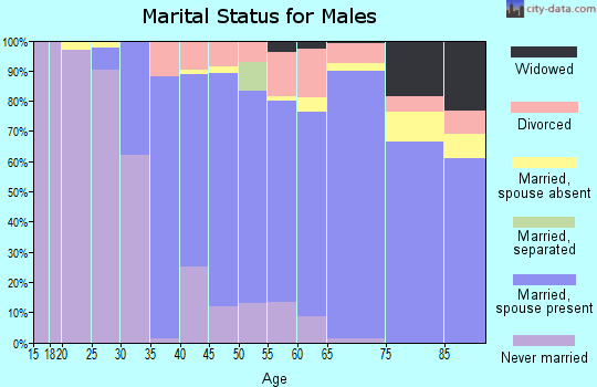 Zip code 06831 marital status for males