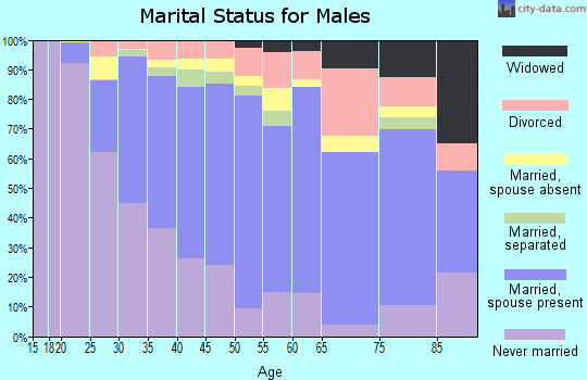 Zip code 07026 marital status for males
