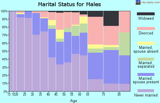 Zip code 07108 marital status for males