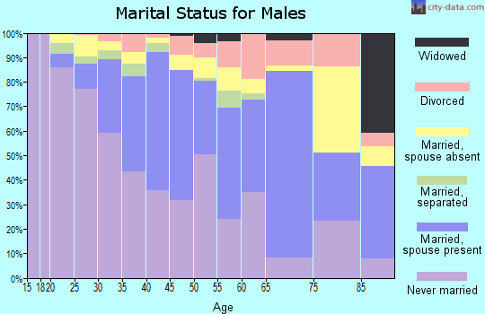 Zip code 07206 marital status for males