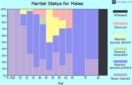 Zip code 07310 marital status for males