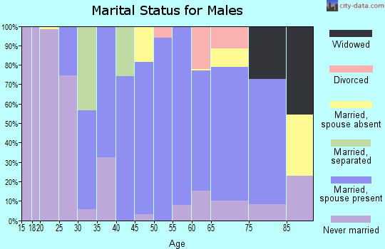 Zip code 07420 marital status for males