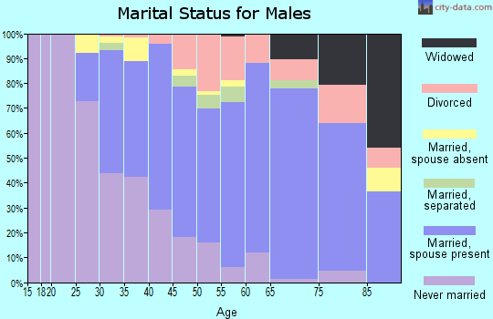 Zip code 07719 marital status for males