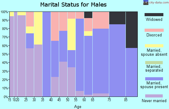 Zip code 07723 marital status for males