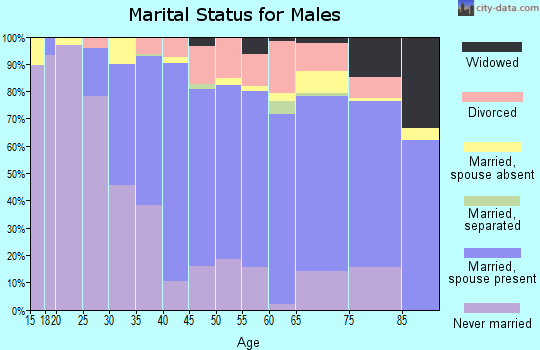 Zip code 07724 marital status for males